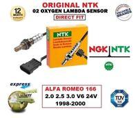 NGK NTK O2 SONDA LAMBDA PER ALFA ROMEO 166 2.0 2.5 3.0 V6 24V 1998-2000