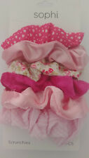 SOPHI Hair Accessories Scrunchies PINK & ASSORTED 6 Pieces NEW