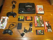 Original Sega Genesis Console MK-1601 Model 1 w/ 4 Games & 2 Controllers Working