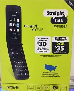 "BRAND NEW - Alcatel My Flip MyFlip Prepaid Basic Cell Phone - ""Straight Talk"""