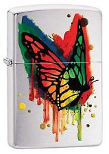 Zippo Windproof Artistic Color Drip Butterfly Lighter, 29392, New In Box