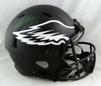 Miles Sanders Autographed Eagles F/S Eclipse Speed Helmet - JSA W Auth *Green