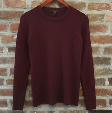J. Crew Stretched Ribbed Merino Wool Burgundy Sweater Women's Small S