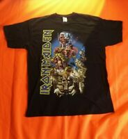 Iron Maiden Somewhere Back In Time 2008 Tour T Shirt Fruit of the Loom Size XL