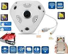 IP camera panoramica 360° videocamera IR infrarossi giorno notte sorveglianza VR