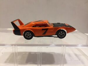 Aurora AFX slot car DODGE CHARGER DAYTONA w/ Running NON Magna-Traction chassis