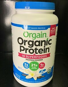 Orgain Organic Plant Based Protein + Superfoods Powder Vanilla Bean 2.7lb Vegan