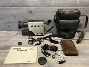 Vintage Braun Nizo 2056 Sound Super 8 Movie Camera With Extras - Tested - Clean!