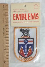 NIP Yukon Territory Crest Coat of Arms Province Canada Canadian Souvenir Patch
