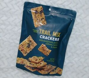 Trail Mix Crackers w/ mung beans seeds cashews raisins cheese 4.5oz Trader Joe's