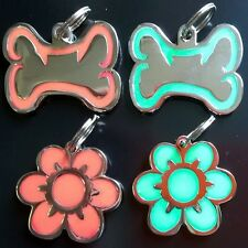 GLOW IN THE DARK-ILLUMINOUS-Engraved Pet Tags DOG CAT ID Disc Disk Engraving