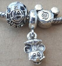 Disney Parks 3D Chef Mickey D60 Mouse European Dangle Charms Openwork Beads Set