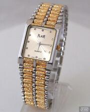 Klassische Herrenuhr Armbanduhr Uhr Gold Bicolor Herren Herrenarmbanduhr Neu