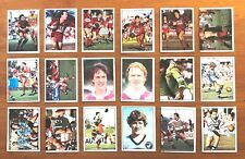 1983 Scanlens Rugby League - Lot of 18 Stickers