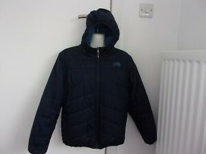 boys navy hooded jacket from the north face size large boys in good condition