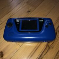 BAD SCREEN Sega Game Gear Blue Sports Edition Model 2110 BROKEN *AS-IS