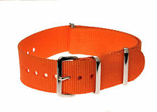 "Military 18mm Orange ""High Visibility"" SAR Search and Rescue Watch Strap / Band"