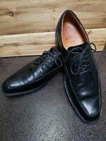 ECCO Mens Black Leather Oxford Moc Toe Dress Shoes EUR 46  US 12 (EUC)