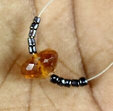 7.80cts Natural Citrine Black Hydro Onion ROndelle Loose Beads 11pcs