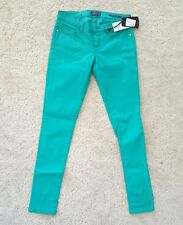 Guess Pants Jeans Skinny Low Turquoise Teal Green Size 27 / 32 NWT