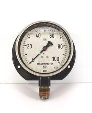 """WIKA Econosto Manometer, Glycerin, 0-100 bar, Ø 100 mm, senkrecht G 1/2"""""""