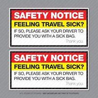Feeling Travel Sick - Motion Sickness - Car Bus Cab Taxi Sticker - SKU5286