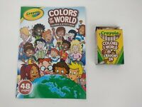 NEW Crayola Colors of the World Coloring & Activity Book & 1 Box Crayons (24)