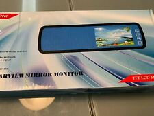 Car Rear View Monitor Reversing Parking 4.3 Inch LCD Mirror For Camera