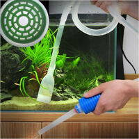 Aquarium Fish Tank Gravel Vacuum Cleaning Cleaner Siphon Pump Water Filter Tool