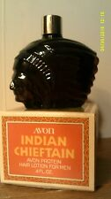 Vtg 1972 Avon Indian Chieftain Decanter Protein Hair -New In Box-Free Shipping