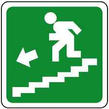 N°10 ADESIVO SEGNALETICA SCALE emergenza. STICKER Emergency exit stairs left