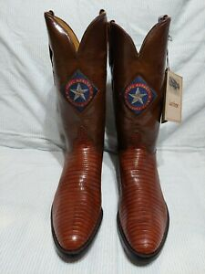 New LUCCHESE MLB Texas Rangers Western Cowboy Boots 10.5 B