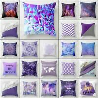 18'' Pillowcase purple pillow case sofa waist throw cushion cover Home Decor