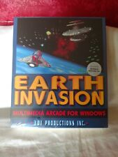 """Game Sealed Brand New Box Earth Invasion 3DI Productions 3.5"""" discs Arcade VTG"""