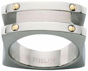 Dolan Bullock Venice Stainless Stl  18k gold  ring nrg0104700b  msrp $250