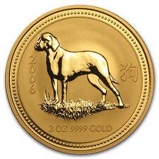 2006 Australia 2 oz Gold Lunar Dog BU (Series I) - SKU #28769
