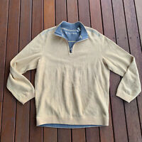Tommy Bahama Reversible Size M Jumper Yellow Grey Casual