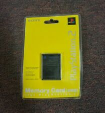 Official Sony Playstation 2 PS2 Memory Card Black 8 MB(Brand New&Factory Sealed)
