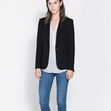 ZARA Basic Single Button Black Blazer