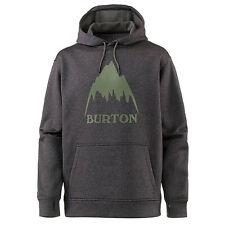 BURTON Mens 2018 Snowboard Snow Oak Pullover Hoodie Black Heather