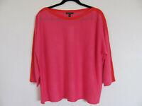 Eileen Fisher Bateau Neck Top- Organic Linen-Cherry Lane Pink-Size 2X -NWT $208