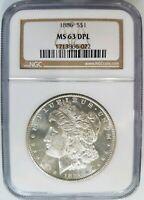 1886 Silver Morgan Dollar NGC MS 63 DPL Deep Mirrors PL DMPL Gem Graded Coin