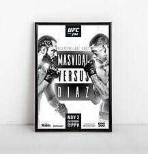 UFC 244 Poster | Framed Art | Jorge Masvidal vs Nate Diaz | BMF | NEW | USA