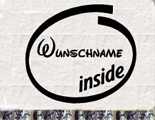 Baby inside Aufkleber Baby on Board Sticker  Wunschname