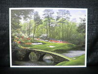 Larry Dyke Hole 12 At Augusta National Masters Golf Lithograph