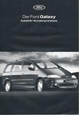 Ford - Galaxy - Zubehör - Preisliste - 09/1999 - Deutsch - nl-Versandhandel