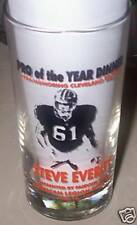 1995 Cleveland Browns Steve Everitt Pro of The Year Glass