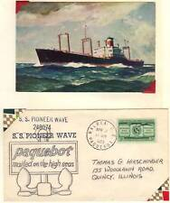 Us 1950's 2 Paquebot Covers On Ss Pioneer & Ss Silverst
