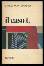 MONTEROSSO CARLO IL CASO T. RIZZOLI 1968 I° EDIZ. NARRATORI MODERNI