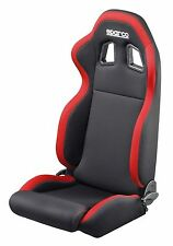 SPARCO R100 TUNER SERIES RACING SEAT - BLACK WITH RED FREE SHIPPING CONUS!